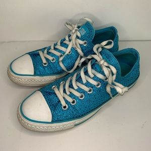 Chuck Taylor All Star Blue Sparkly Ox Sneakers